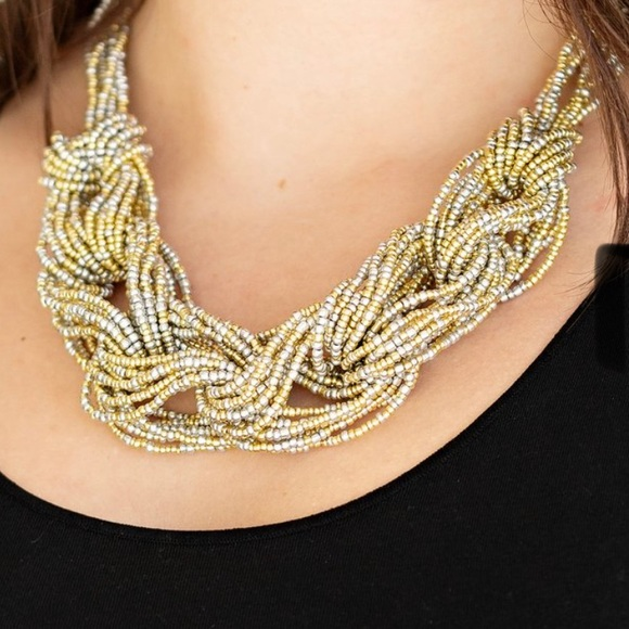 City Catwalk Necklace Gold NWT